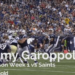 Jimmy Garoppolo Cover Saints Preseason